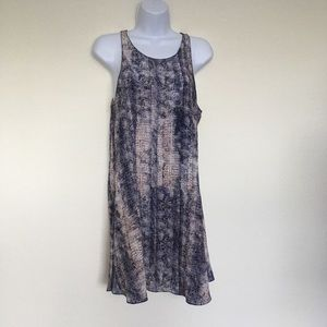 100% silk snakeskin mini dress